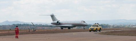 Private Jet arriving in Madagascar